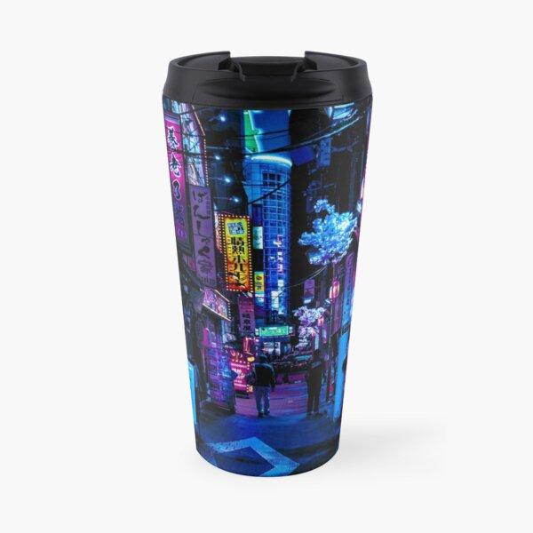 Blue Tokyo Alleys Travel Mug