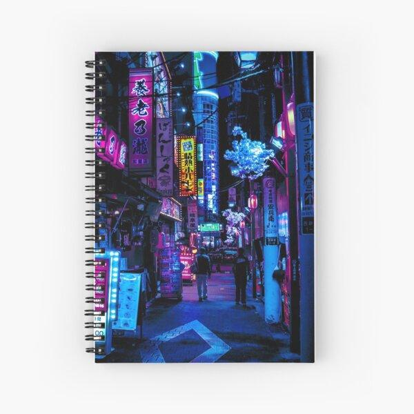 Blue Tokyo Alleys Spiral Notebook