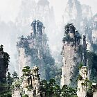 Floating mountains Zhangjiajie National Forest Park art photo print by AwenArtPrints