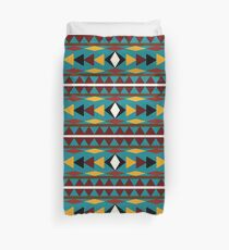Navajo Teal Pattern Duvet Cover