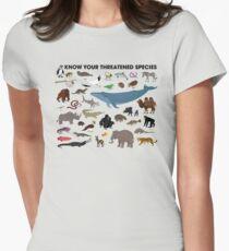 Kenne deine bedrohten Arten Tailliertes T-Shirt