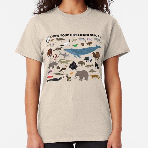 Connaissez vos espèces menacées T-shirt classique