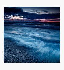 Beautiful dramatic dusk nature scenery of lake Huron Grand Bend art photo print Photographic Print