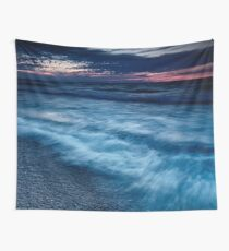 Beautiful dramatic dusk nature scenery of lake Huron Grand Bend art photo print Wall Tapestry