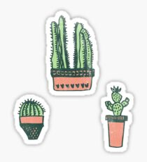 Cute 3 Individual Cacti Sticker