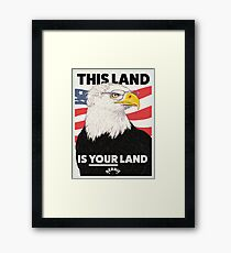 This Land is Your Land - Bernie Sanders for President Poster Framed Print