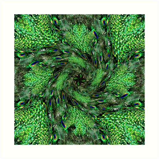 Peacock Swirl by Kathy Weaver