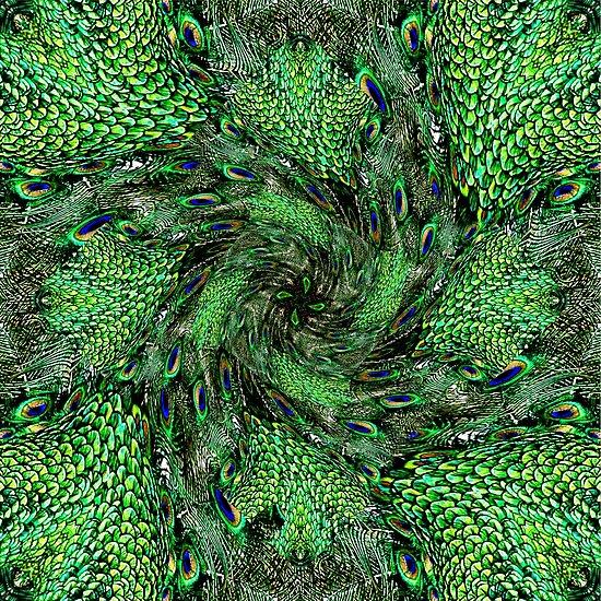Peacock Swirl by Kathy Weaver