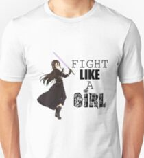 Kirito Fight Like A Girl White T-Shirt