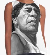 Diego Armando Maradona in black and white Contrast Tank