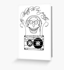 Til Death Do Us Party - single colour Greeting Card