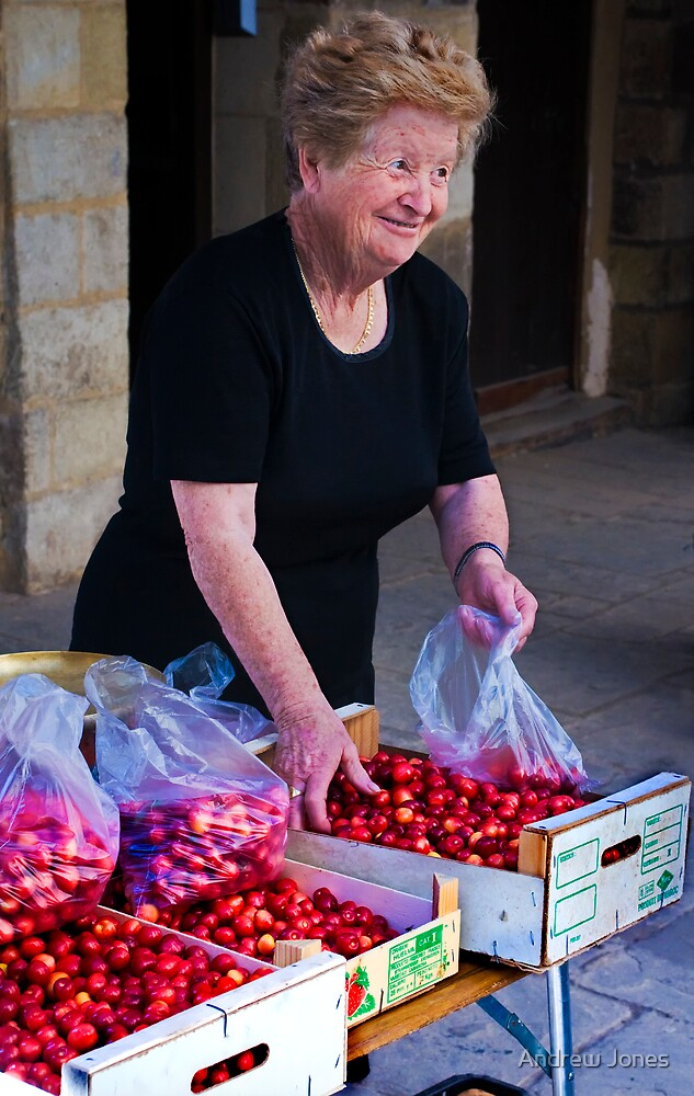 fresh cherries by Andrew Jones