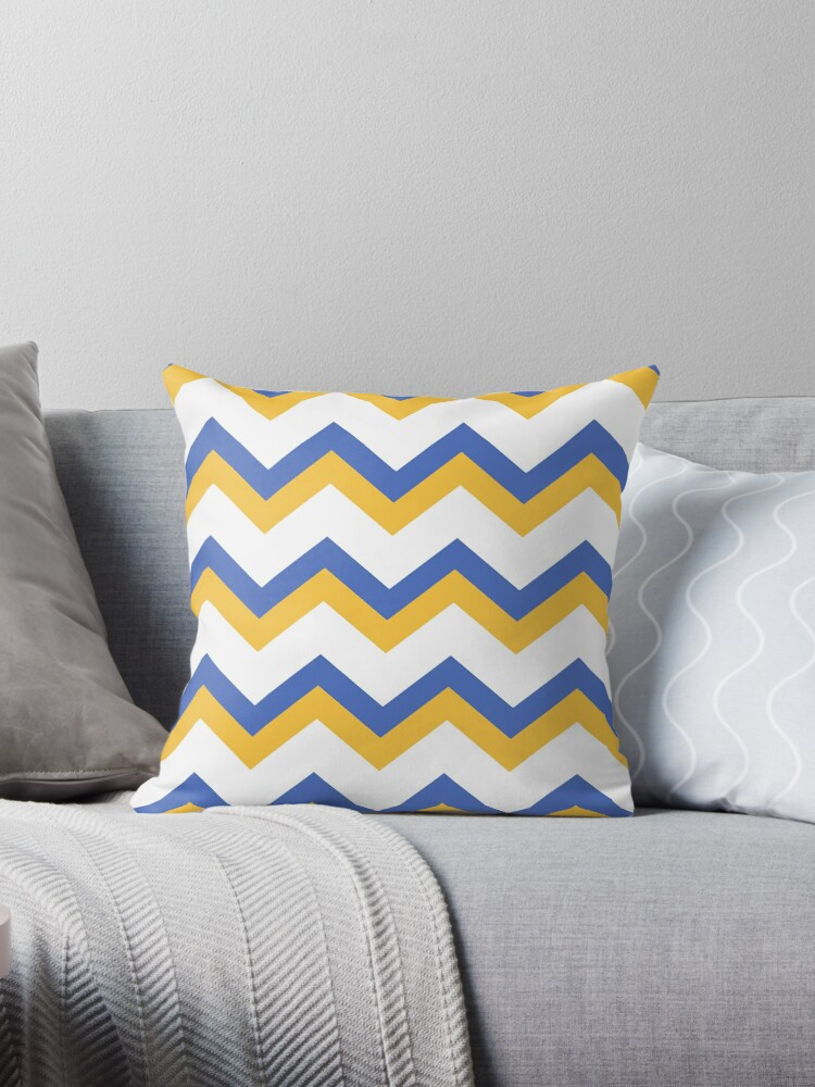 Yellow Blue Chevron by Christina Rollo