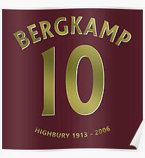 Dennis Bergkamp 10 Arsenal Highbury Poster