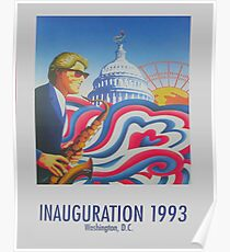 """Inauguration 1993, Washington, D.C."" - '93 Bill Clinton Presidential Poster Poster"
