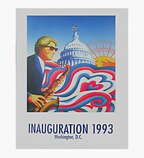 """Inauguration 1993, Washington, D.C."" - '93 Bill Clinton Presidential Poster Photographic Print"