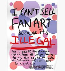 Self-expression (white) Poster