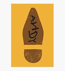 Woody's Shoe Photographic Print