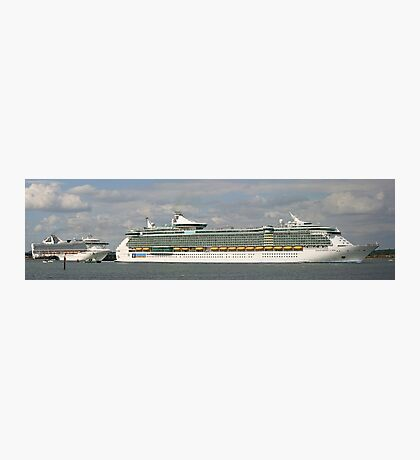 Cruise Ship Pano Photographic Print