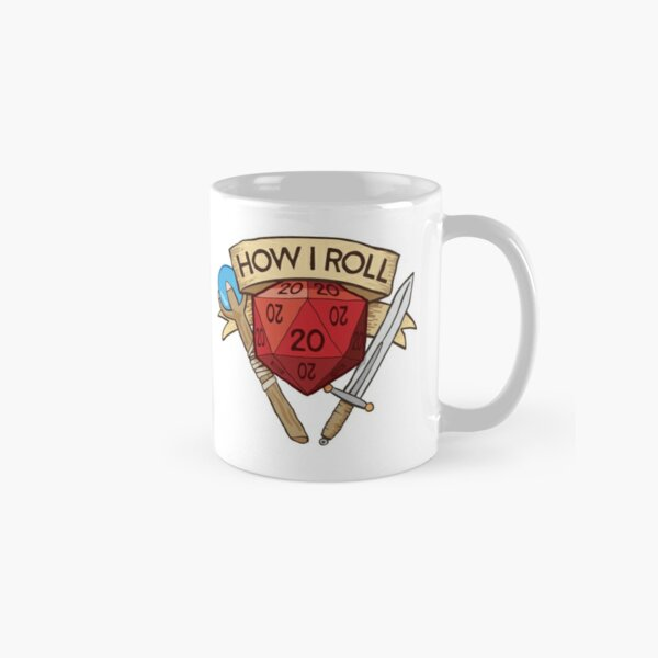 d20 Dungeons and Dragons Dice RPG Tee Classic Mug