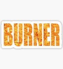 Burner, Burning Man Desert Art Festival Print Sticker