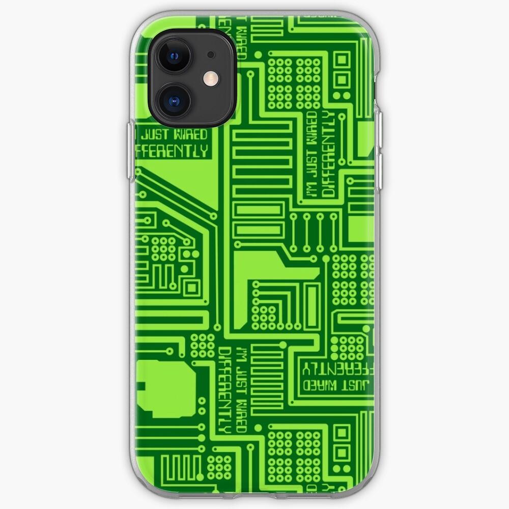 CIRCUIT BOARD GREEN iphone case