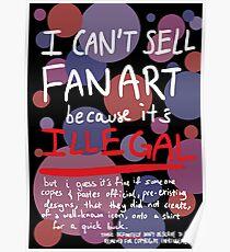 Self-expression (black) Poster