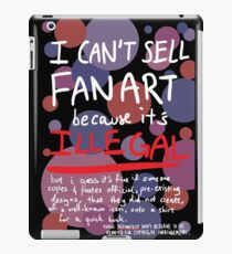 Self-expression (black) iPad Case/Skin