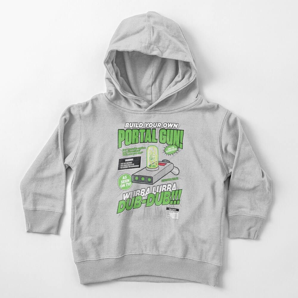 Build Your Own Portal Gun Toddler Pullover Hoodie