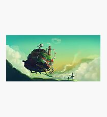 Howls Moving Castle studio ghibli Photographic Print