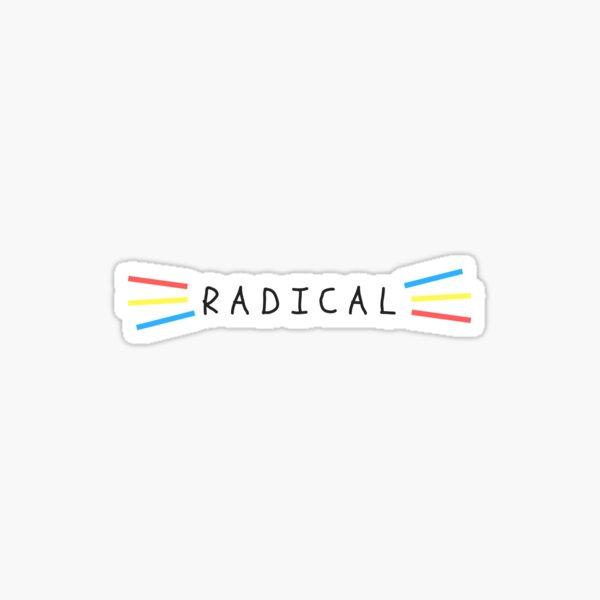Radical Primary Colors Sticker