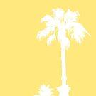 «Siluetas de Palma en amarillo» de by-jwp