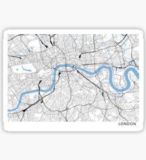 London minimalist line map Sticker