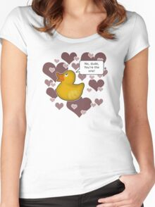 ♥ Rubber Ducky ♥ -girly Women's Fitted Scoop T-Shirt