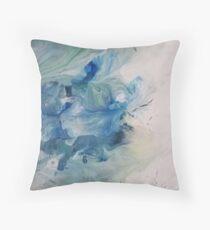 Blue Blush Throw Pillow