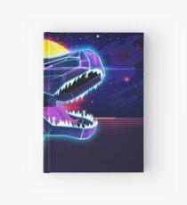 Electric Jurassic Rex - Neon Purple Dinosaur  Hardcover Journal