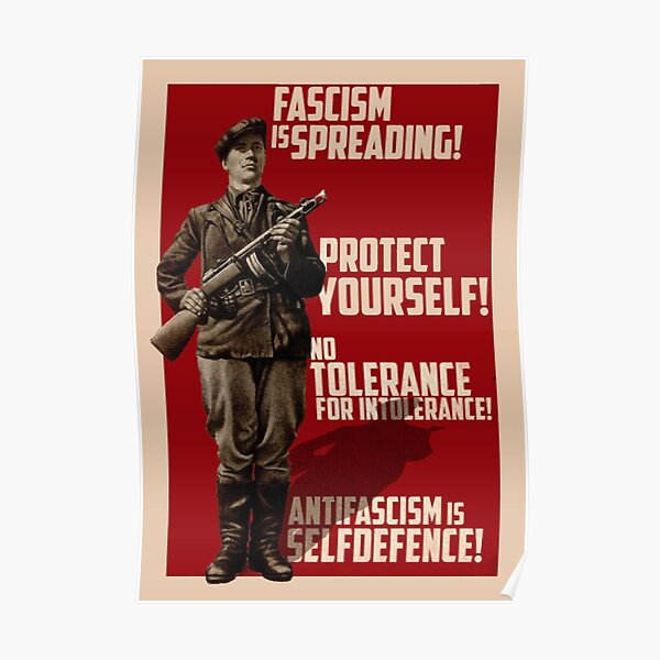 Fascism is Spreading! Protect yourself! Poster
