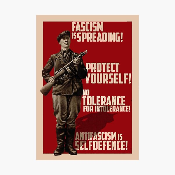 Fascism is Spreading! Protect yourself! Photographic Print