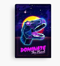 Electric Jurassic Rex - Dominate the Planet Canvas Print