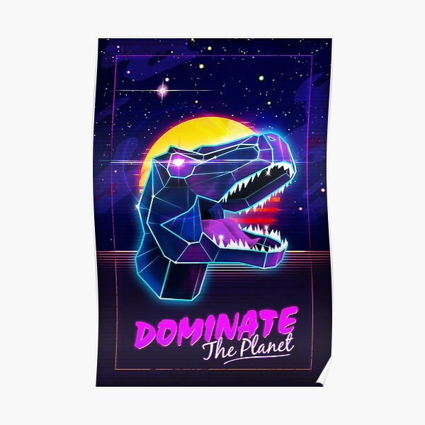 Electric Jurassic Rex - Domina el planeta Póster