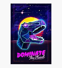 Electric Jurassic Rex - Dominate the Planet Photographic Print
