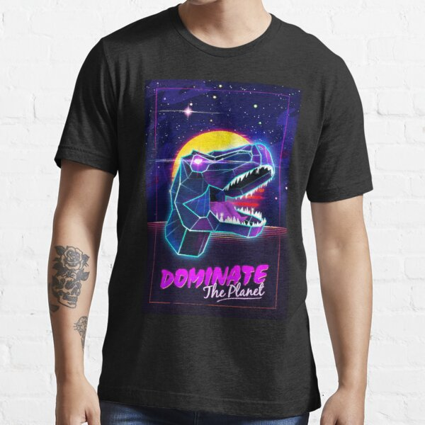 Electric Jurassic Rex - Dominate the Planet Essential T-Shirt