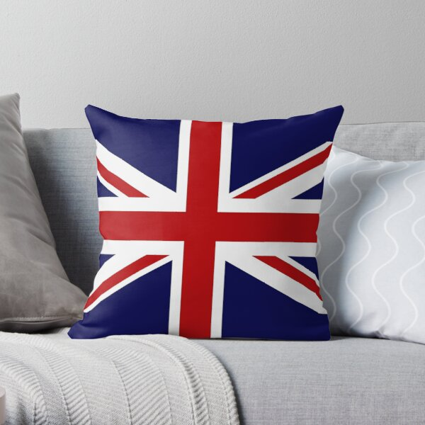 Union Jack Flag of the UK Throw Pillow