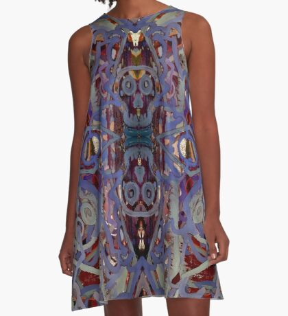 Skulls Purple Rouge A-Line Dress