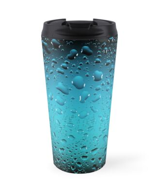 Stylish Cool Blue water drops by PLdesign