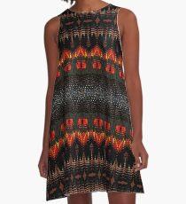 Carnaby / Black Cockatoo Feathers A-Line Dress
