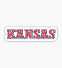 Kansas red/blue Sticker