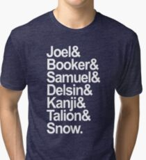 Troy Baker's characters (white) Tri-blend T-Shirt
