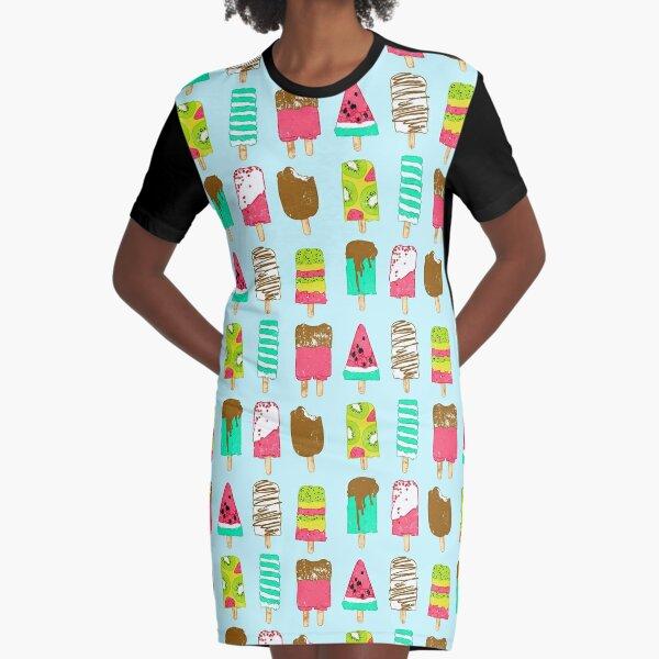 Ice Cream Time Graphic T-Shirt Dress