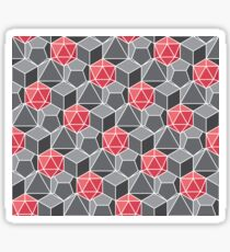 Dungeons and Dragons Fantasy Dice Pattern Sticker